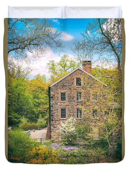 The Stone Mill In Spring Duvet Cover by Jessica Jenney
