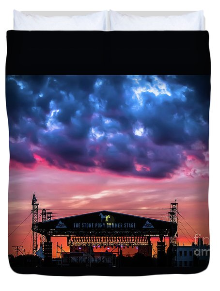 The Stone Pony Summer Stage Duvet Cover by Colleen Kammerer