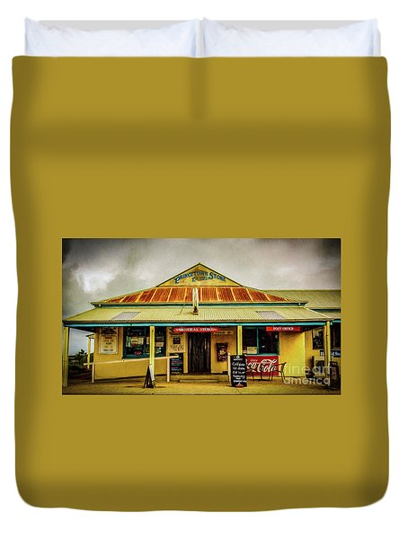 Duvet Cover featuring the photograph The Store by Perry Webster