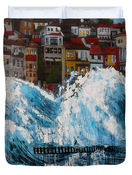The Storm- Large Work Duvet Cover