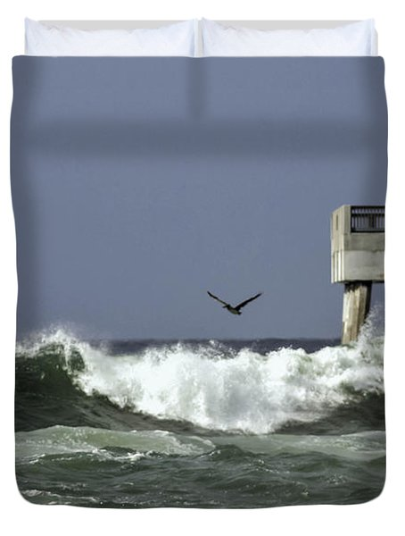 The Storm  Duvet Cover by Debra Forand
