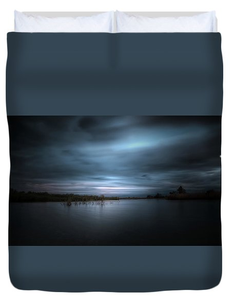Duvet Cover featuring the photograph The Storm by Mark Andrew Thomas