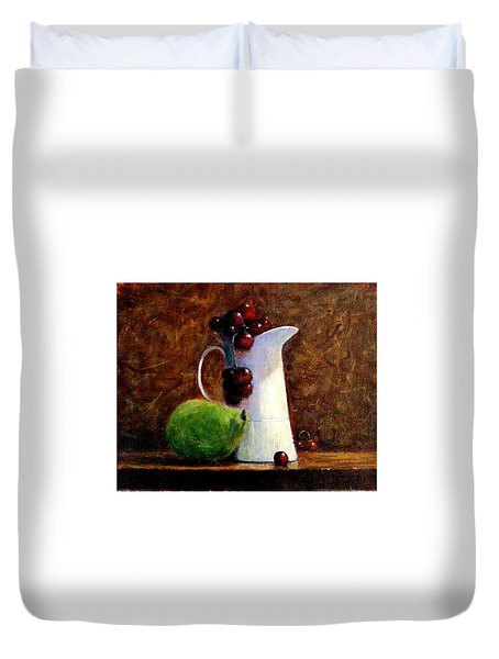 The Story Of A White Jug.. Duvet Cover by Cristina Mihailescu