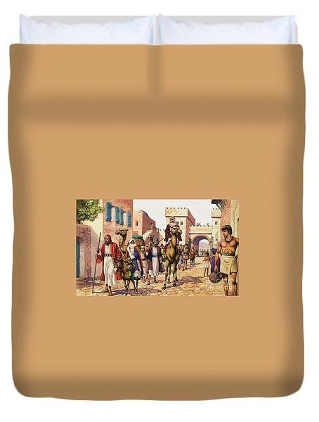 The Story Of Isaac  Duvet Cover