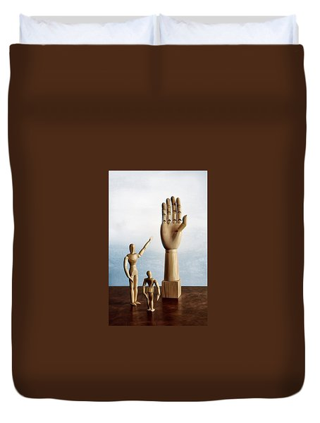 Duvet Cover featuring the photograph The Story Of The Creator by Mark Fuller