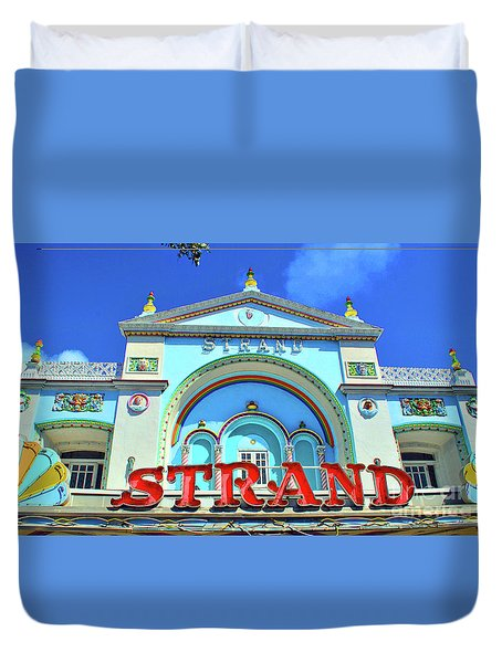 Duvet Cover featuring the photograph The Strand by Jost Houk