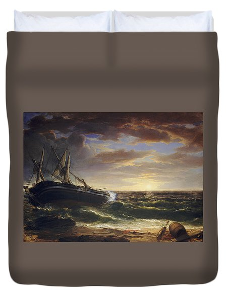 The Stranded Ship Duvet Cover