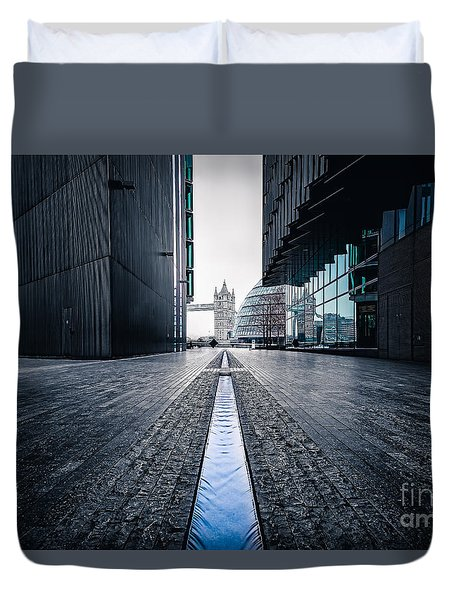 The Stream Of Time Duvet Cover by Giuseppe Torre
