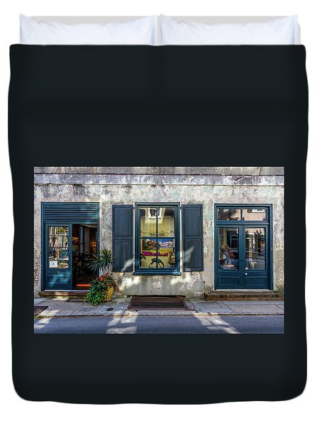 The Streets Of Charleston Duvet Cover