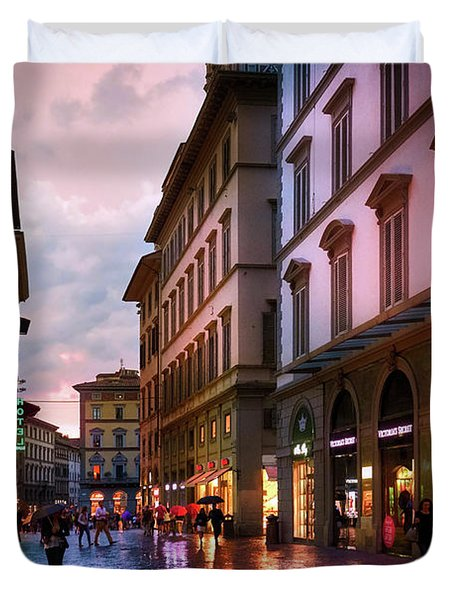 The Streets Of Florence Duvet Cover