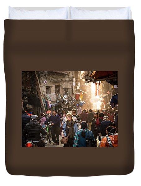 The Streets Of Kathmandu Duvet Cover