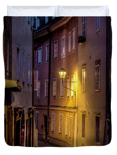 The Streets Of Salzburg Duvet Cover