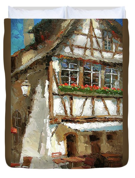 The Streets Of Strasbourg Duvet Cover