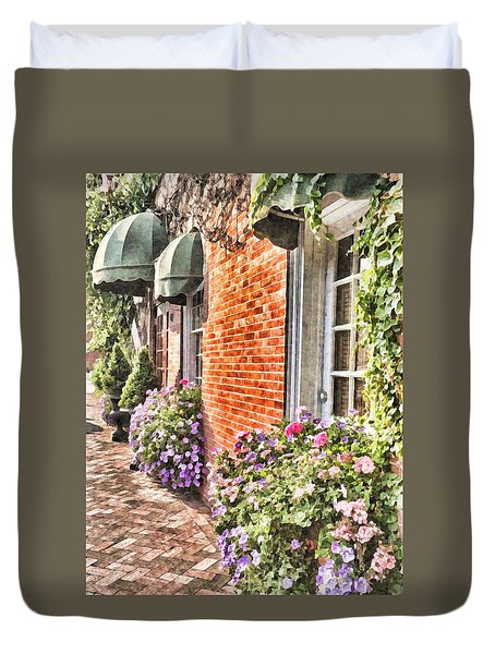 The Streets Of Summer Duvet Cover