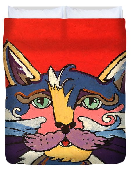 The Streetwise Old Colorful Cat Prints By Robert Erod Duvet Cover