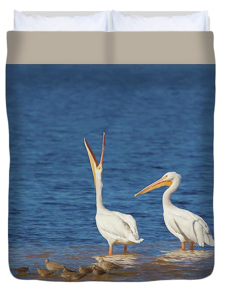 Duvet Cover featuring the photograph The Stretch by Kim Hojnacki