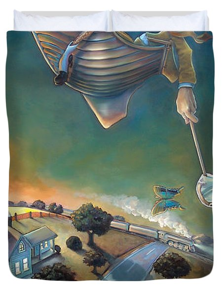 The Strife Of Wanderlust In A Dream Duvet Cover by Patrick Anthony Pierson