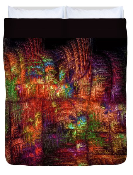 Duvet Cover featuring the digital art The Strong Fabric Of Dreams by Menega Sabidussi