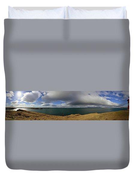 The Stykkisholmur Lighthouse Duvet Cover
