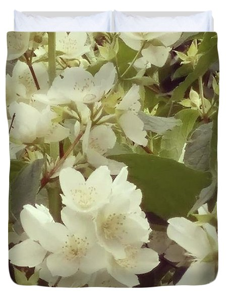 The Summer Smells Like A Mock Orange Duvet Cover