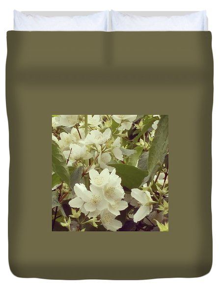 The Summer Smells Like A Mock Orange Duvet Cover by Arletta Cwalina