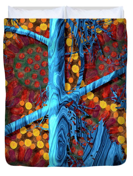 The Summer We Went To Blue Tree Duvet Cover