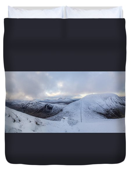 The Summit And Down The Wall Duvet Cover