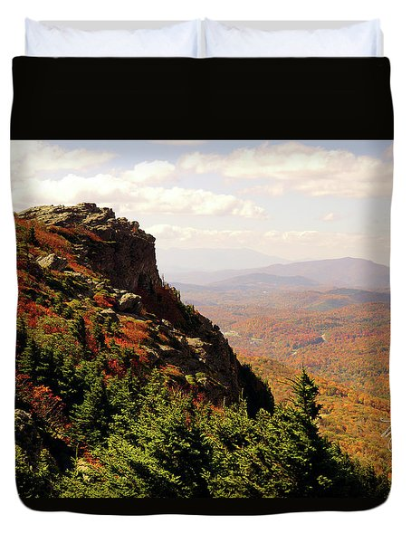 Duvet Cover featuring the photograph The Summit In Fall by Meta Gatschenberger