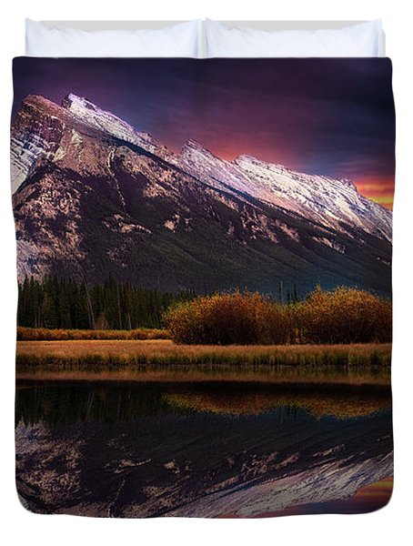 Duvet Cover featuring the photograph The Sun Also Rises by John Poon
