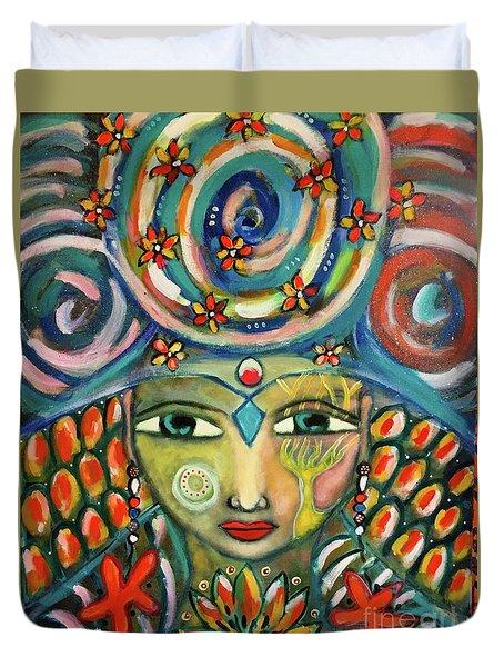 The Sun Goddess  Duvet Cover
