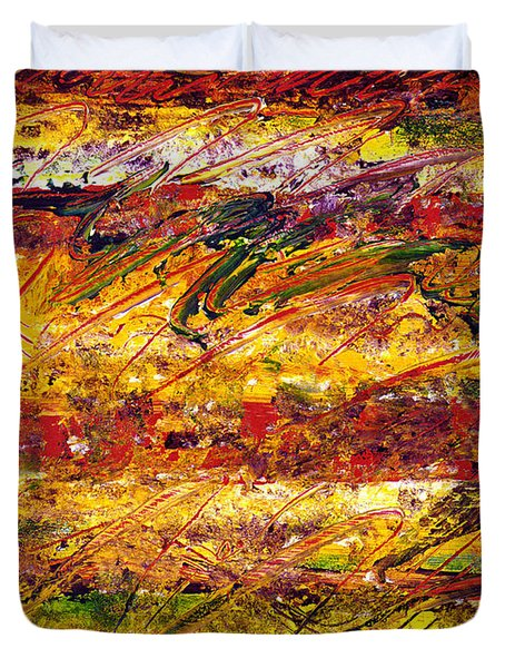 The Sun Rose One Step At A Time Duvet Cover by Wayne Potrafka