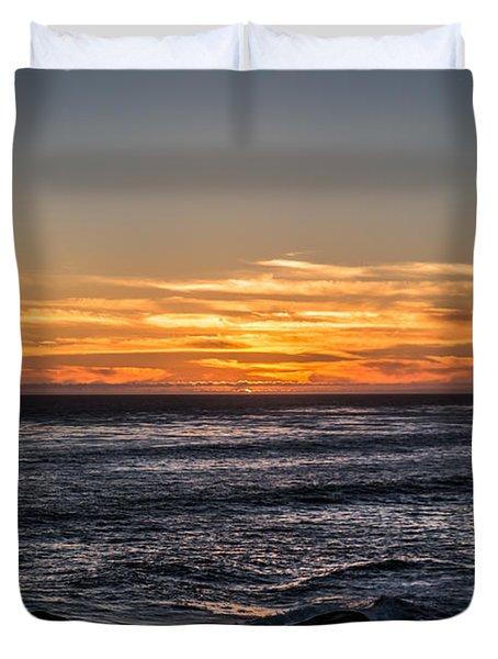 The Sun Says Goodbye Duvet Cover
