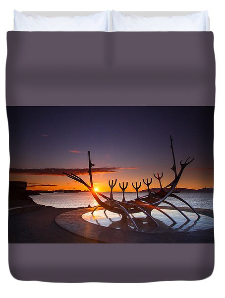 The Sun Voyager Duvet Cover