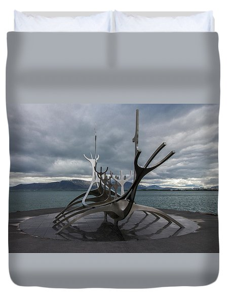 The Sun Voyager, Reykjavik, Iceland Duvet Cover