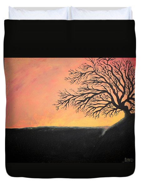 The Sun Was Set Duvet Cover