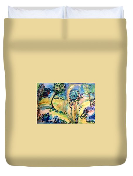 The Sun Will Come Out  Tomoro Duvet Cover by Judith Desrosiers