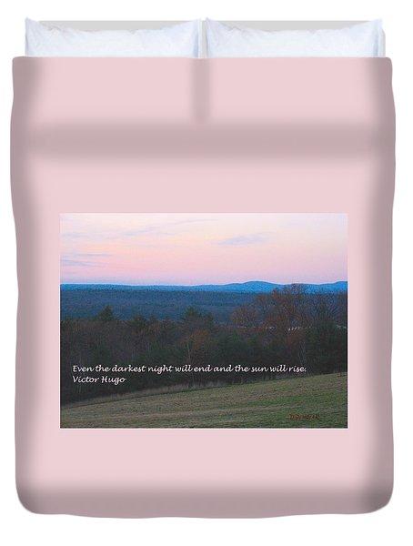 The Sun Will Rise Duvet Cover by Deborah Dendler