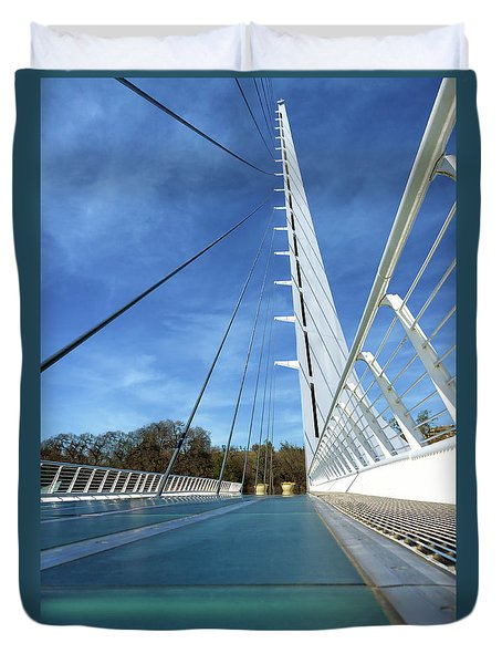 Duvet Cover featuring the photograph The Sundial Bridge by James Eddy