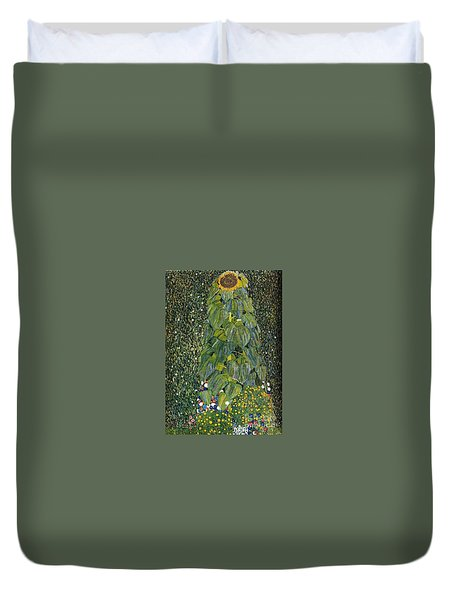 The Sunflower Duvet Cover by Klimt