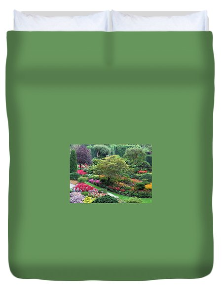 The Sunken Garden At Dusk Duvet Cover