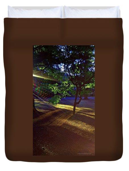 The Sunset Grove  Duvet Cover