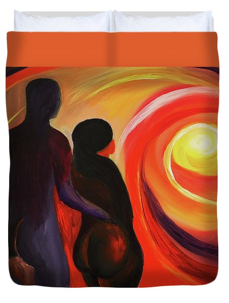 The Sunset Of Our Dreams Duvet Cover by Angel Reyes