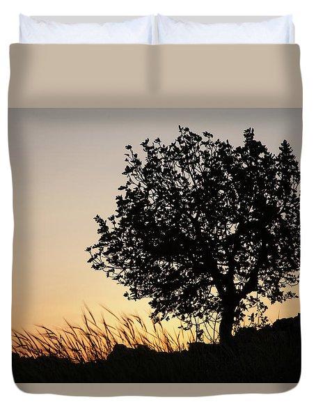Sunset On The Hill Duvet Cover