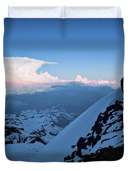 The Sunset Wave Duvet Cover