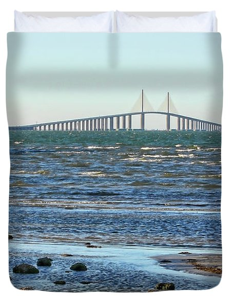 The Sunshine Skyway Duvet Cover