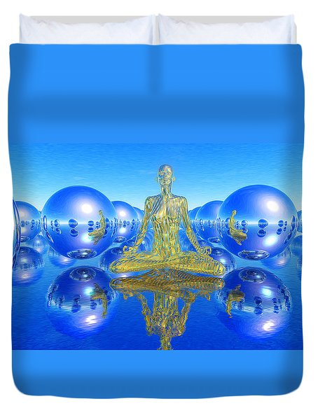 The Superficial Illusion Of Duality Duvet Cover