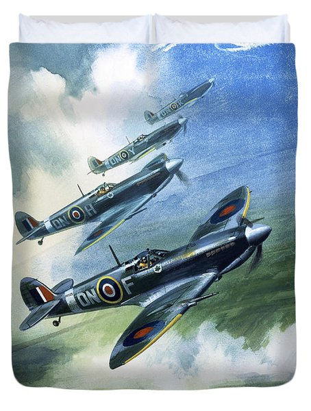 The Supermarine Spitfire Mark Ix Duvet Cover by Wilfred Hardy