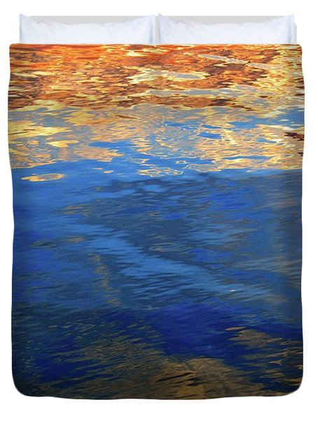 The Surface Is A Reflection  Duvet Cover