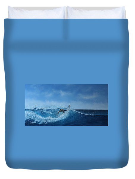 The Surfer Duvet Cover by Paul Newcastle
