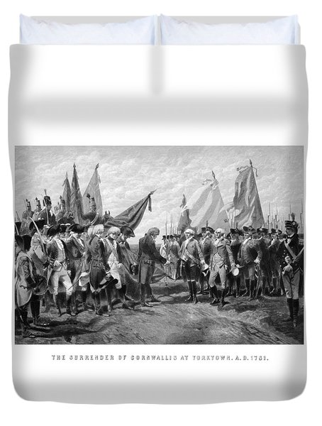 The Surrender Of Cornwallis At Yorktown Duvet Cover by War Is Hell Store